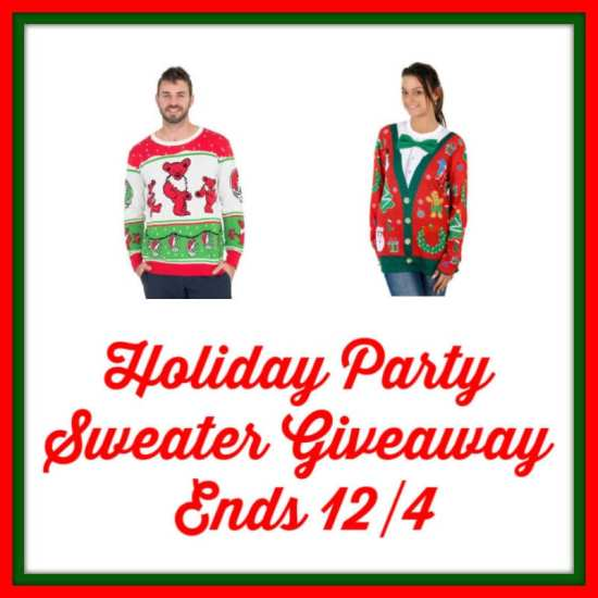 🎄 Enter and you could #WIN a Holiday Party Sweater of your choice valued up to $60 when this #SMGN Holiday Gift 🎁 Guide #Giveaway ends 12/4. @SMGurusNetwork @las930 @uglyXsweater