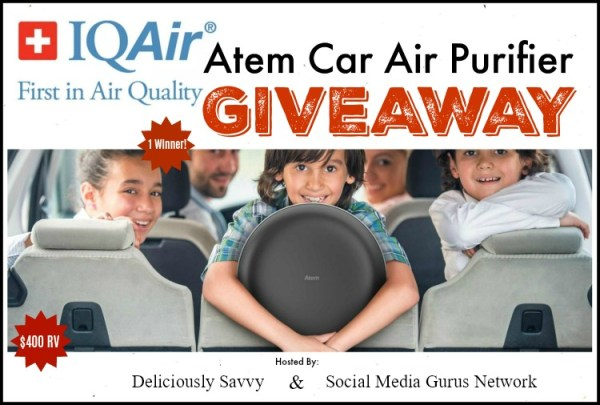 🎄 Enter and you could #WIN an IQAir💨 Atem Car Air Purifier when this #SMGN Holiday Gift 🎁 Guide #Giveaway ends 12/03. @SMGurusNetwork @IQAir
