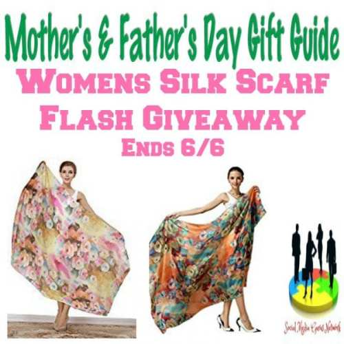 Womens Silk Scarf Flash Giveaway @SMGurusNetwork