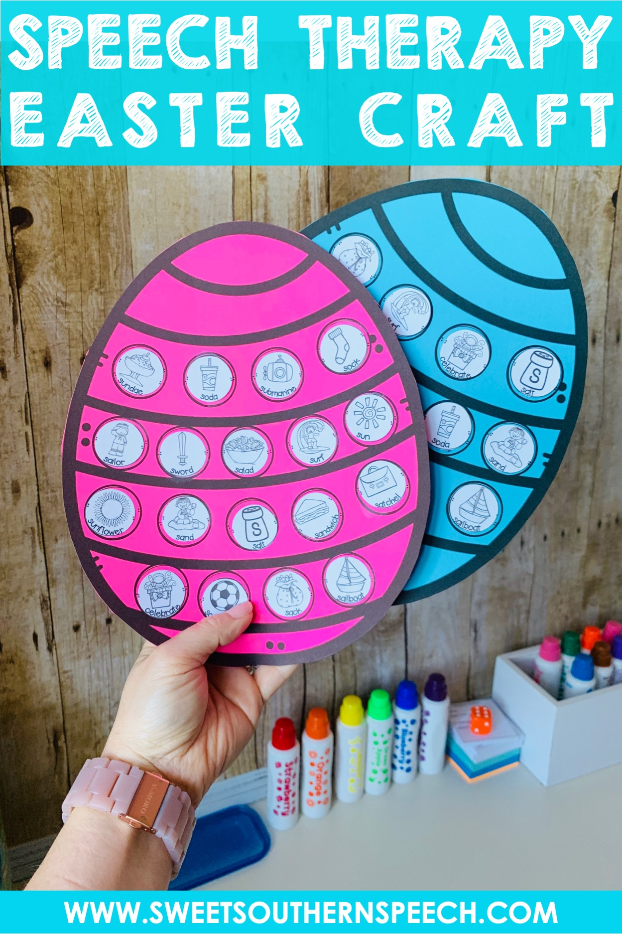 Easter Craft Freebie For Speech Therapy