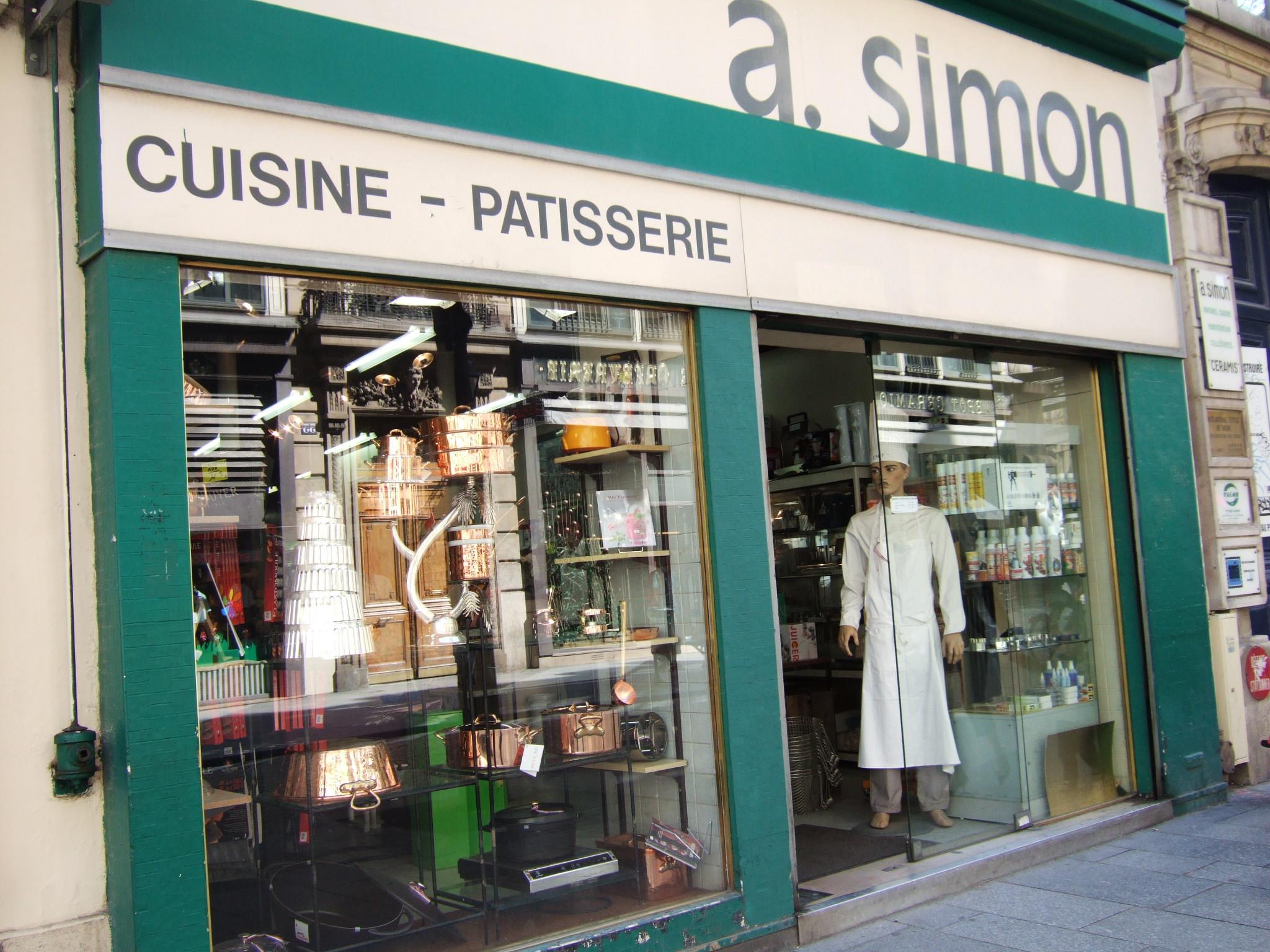 パリの製菓道具屋さん A simon