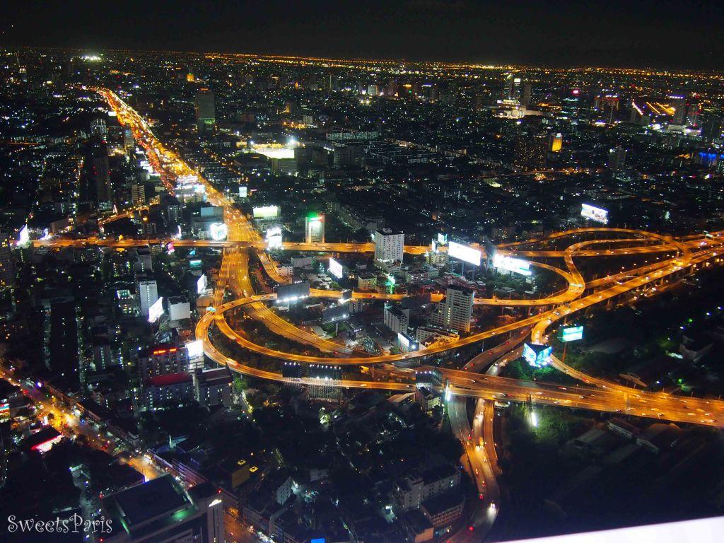 バンコクのバイヨークスカイからの夜景