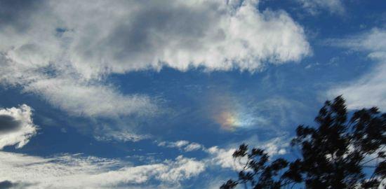 丸い虹フランスモンペリエの丸い虹
