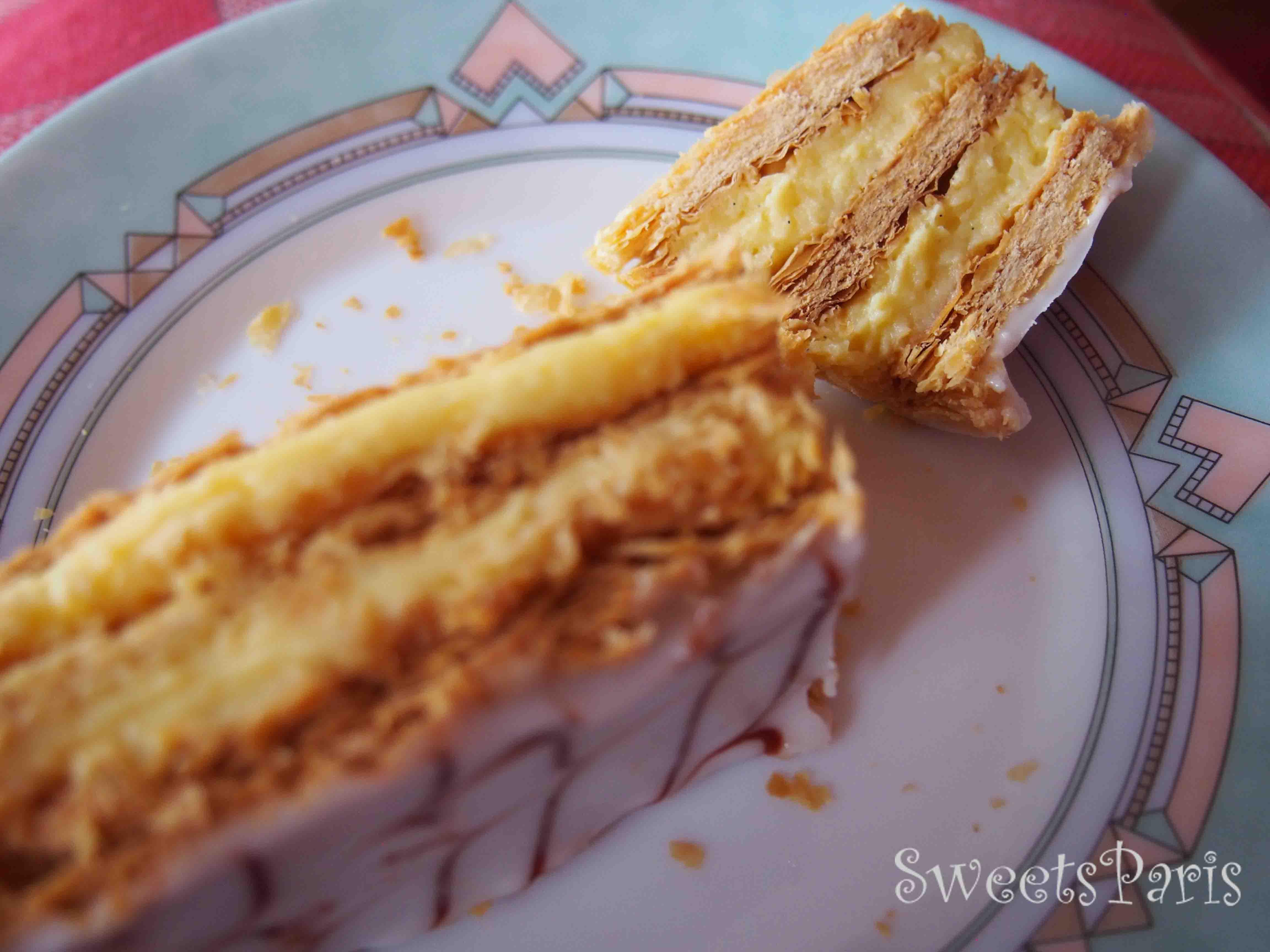 フランスのミルフィーユの食べ方 millefeuille