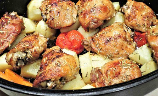 フランス男の手料理、骨付きチキンのハーブ焼きの作りかた