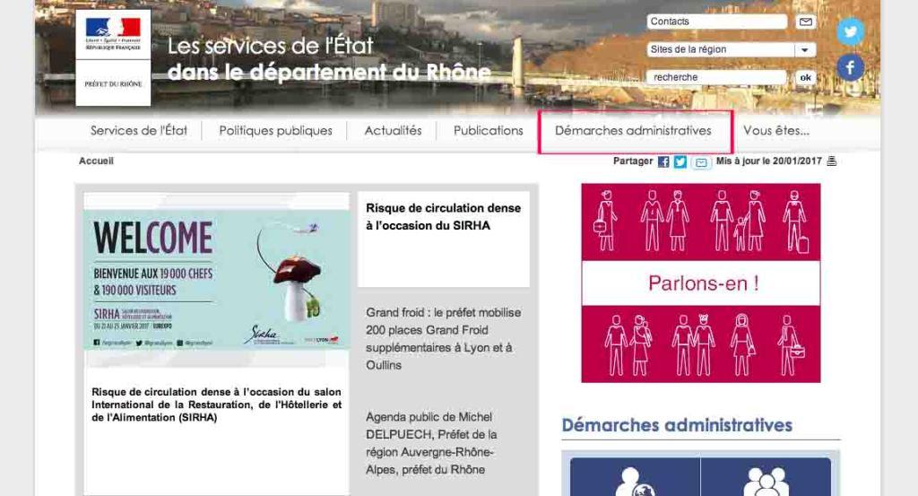 フランス滞在許可書更新の予約サイト