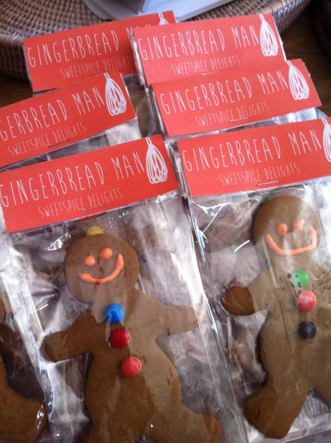 Gingerbread men from my market stalls