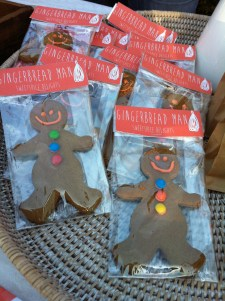Gingerbread men from my market stalls