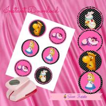 ALICE IN THE WONDERLAND CUPCAKE TOPPERS 3- IMAGEN PROMO