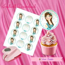 BRAID GIRL DOLL CUPCAKE TOPPERS 2- IMAGEN PROMO