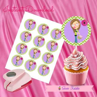 SHOPPINISTA DOLL CUPCAKE TOPPERS 2- IMAGEN PROMO
