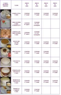 www.sweetsusy.com - Desserts: Cakes - Pricing Chart