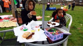 Mostafa's daughters, Tina and Atena, at a Sweets Way community day
