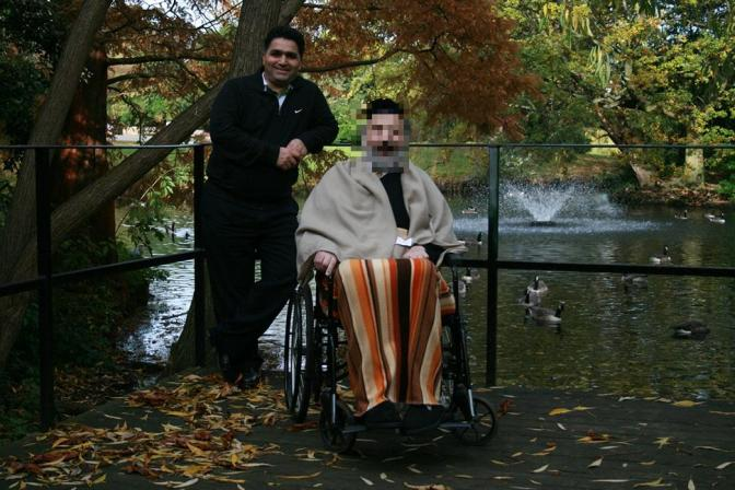 Mostafa in his former role as a carer