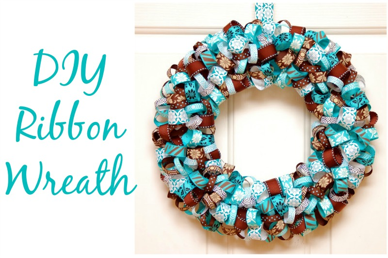DIY Ribbon Wreath Feature