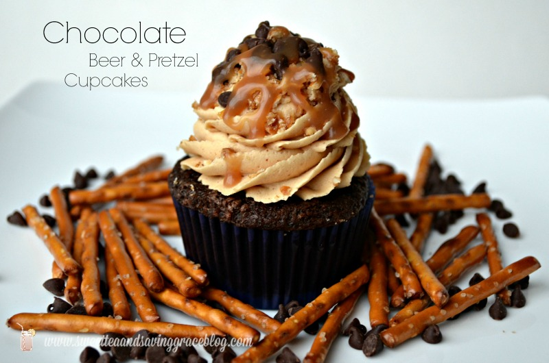 Chocolate Beer & Pretzel Cupcakes | Sweet Tea & Saving Grace