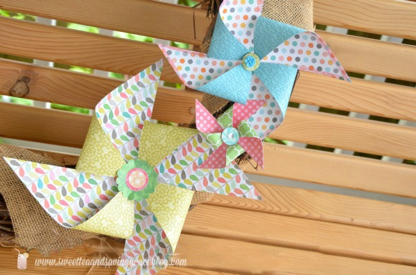 Pinwheel Wreath  |  Sweet Tea & Saving Grace
