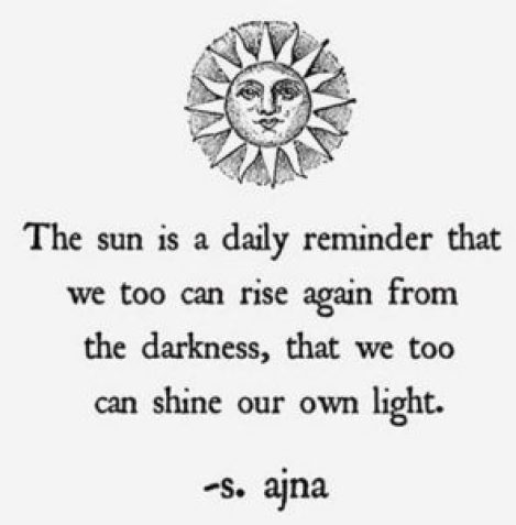 the sun is a reminder