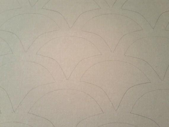 diy scalloped wall art tutorial