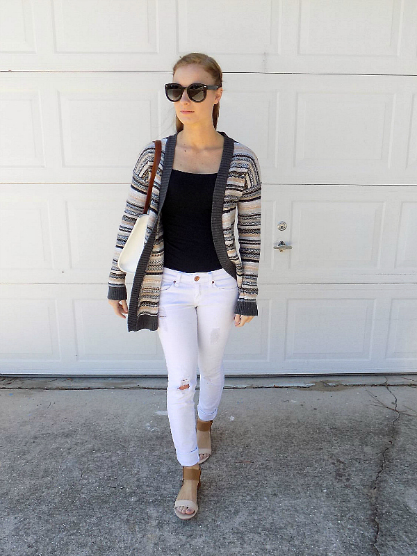 dooney and bourke and stripes outfit style fashion