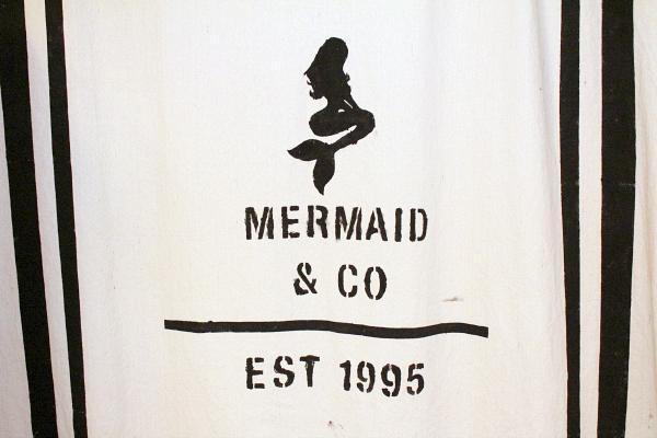 diy drop cloth mermaid shower curtain 8