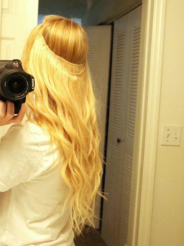 diy halo hair extensions 8