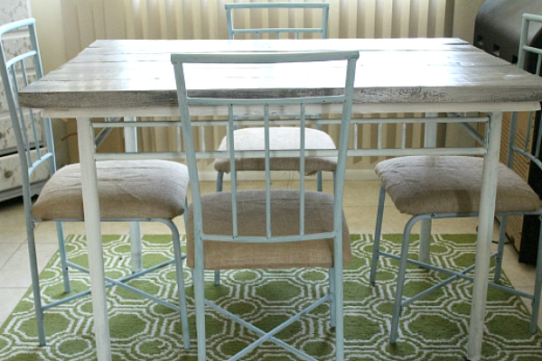 diy walmart dining table makeover