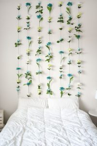 DIY Flower Wall // Headboard // Home Decor | Sweet Teal