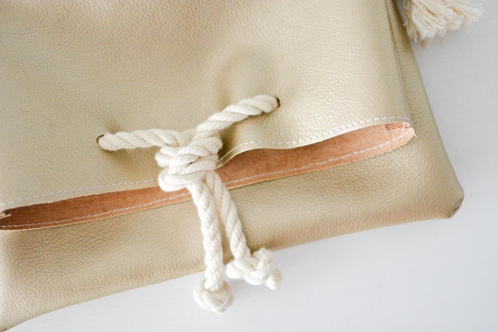 DIY Rope Handle Fold Over Purse