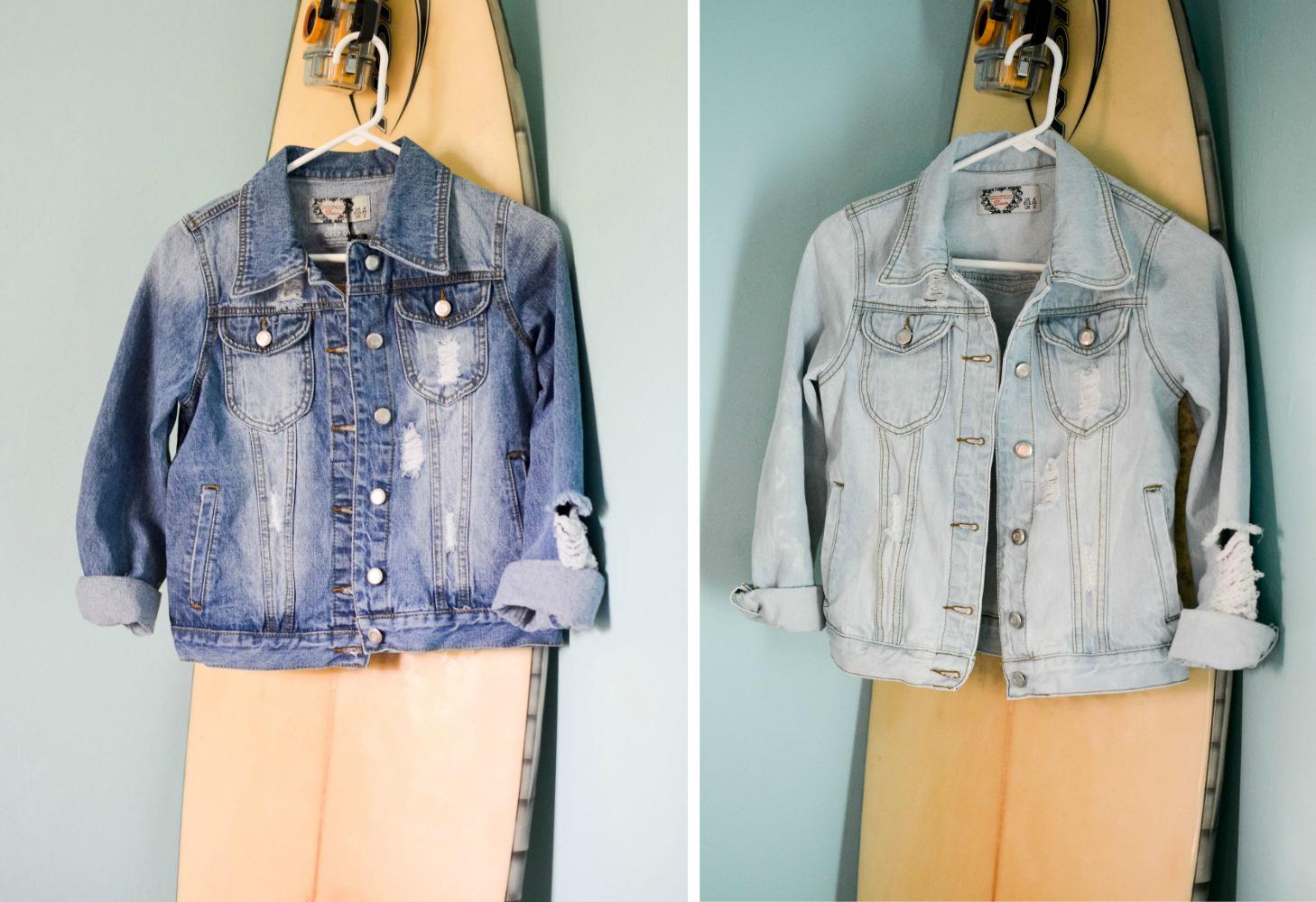 How to bleach a denim jacket