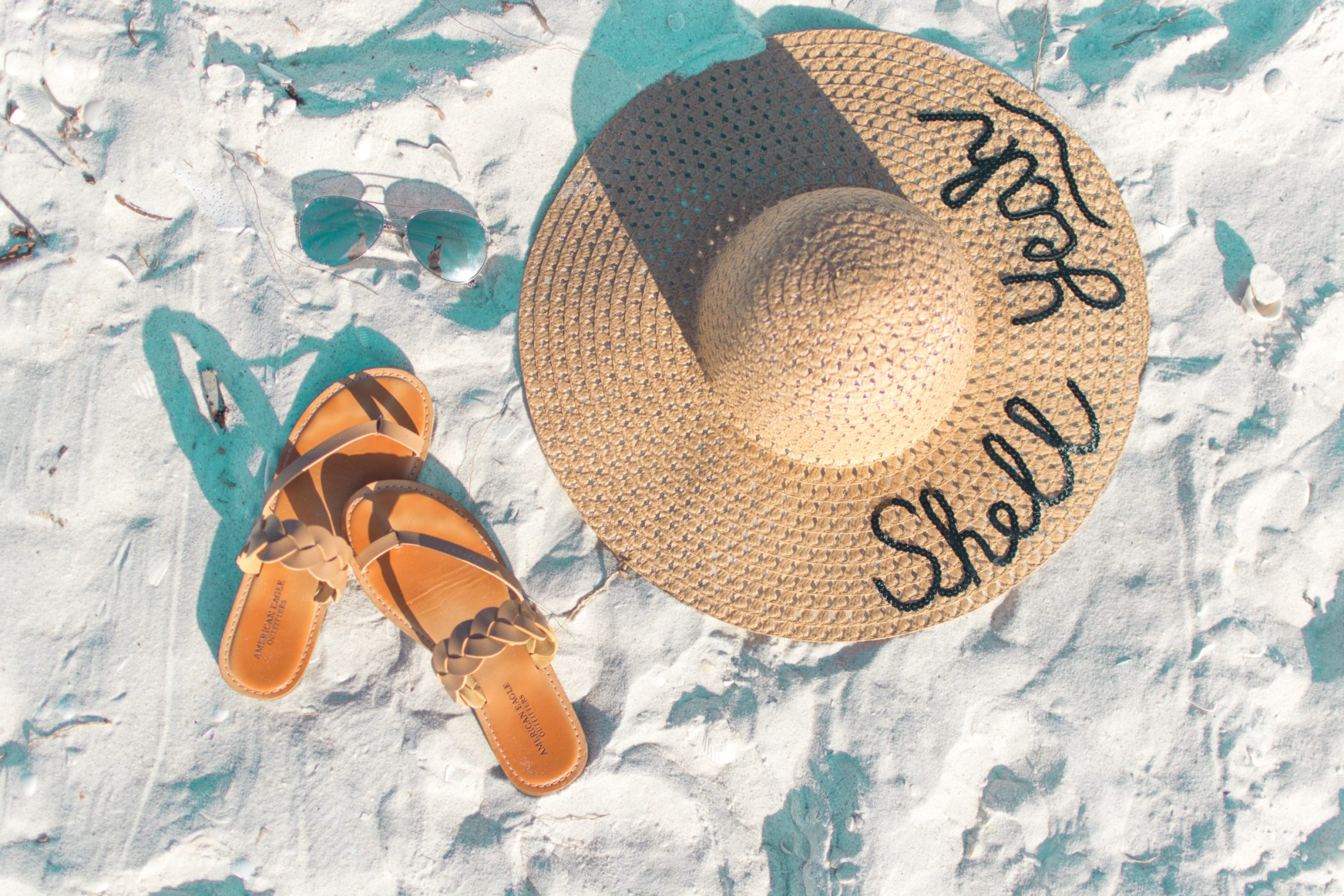 diy script shell yeah hat and sandals