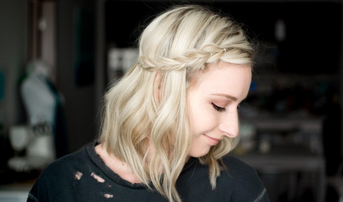 pull-through side braid hair tutorial