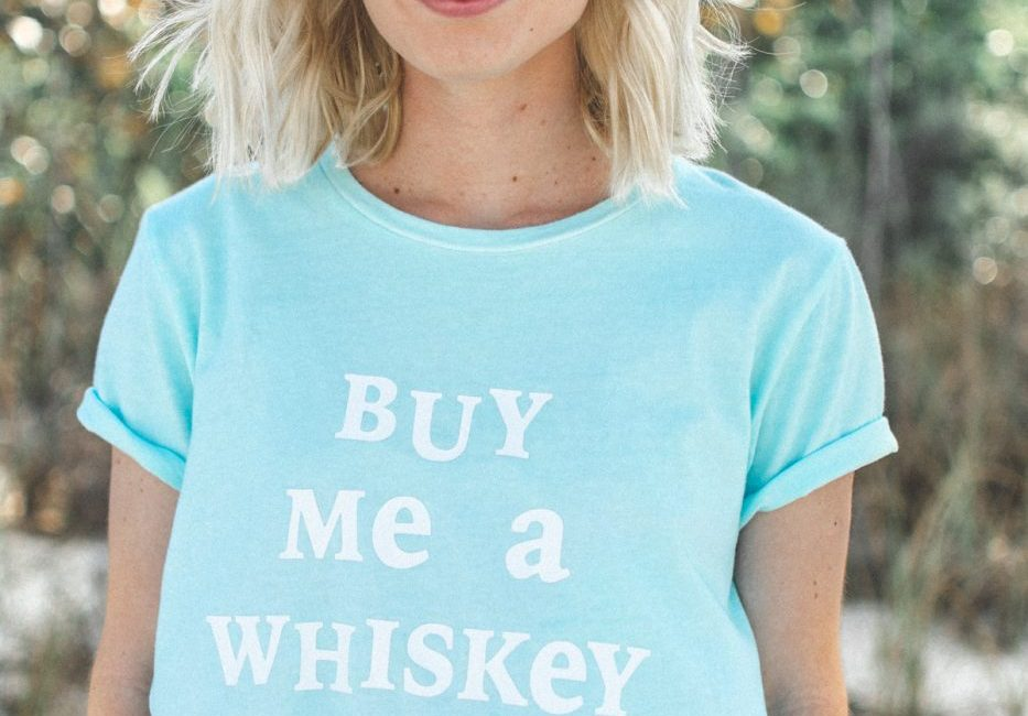 Buy Me A Whiskey DIY FOR LESS Wildfox Tee by Jenny of Sweet Teal