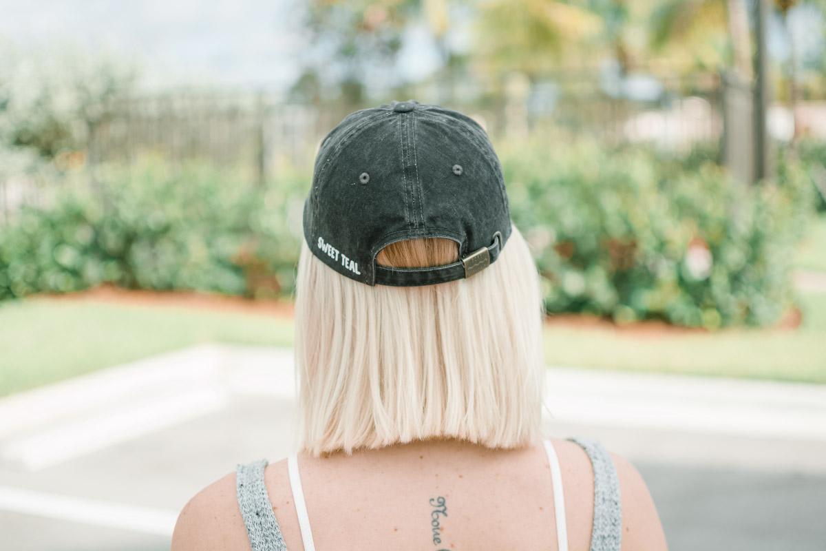 Sweet Teal vinyl decal cap