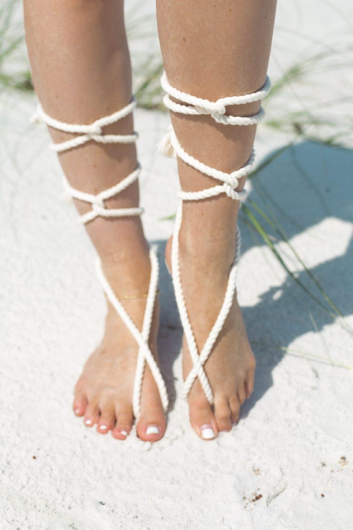 DIY Rope Barefoot Sandals