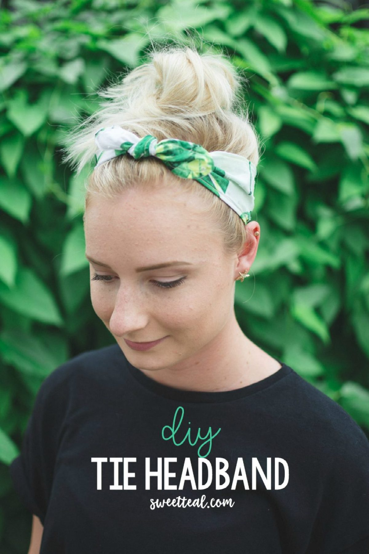 DIY Tie Headband by Jenny of Sweet Teal