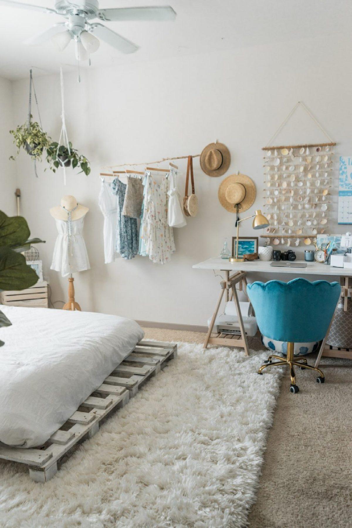 Beachy Boho Bedroom & Office - Sweet Teal