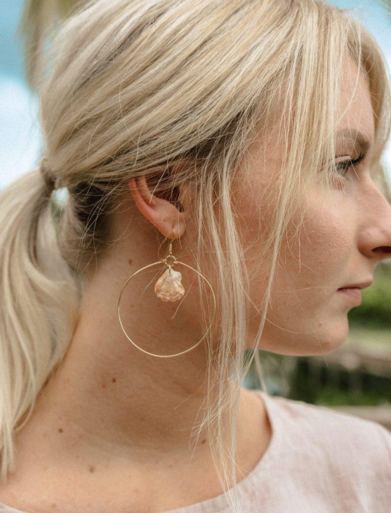 DIY hoop earrings - Jenny bess