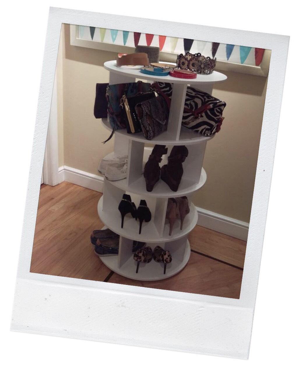 Shoe Storage - Spinning Shoe Carousel