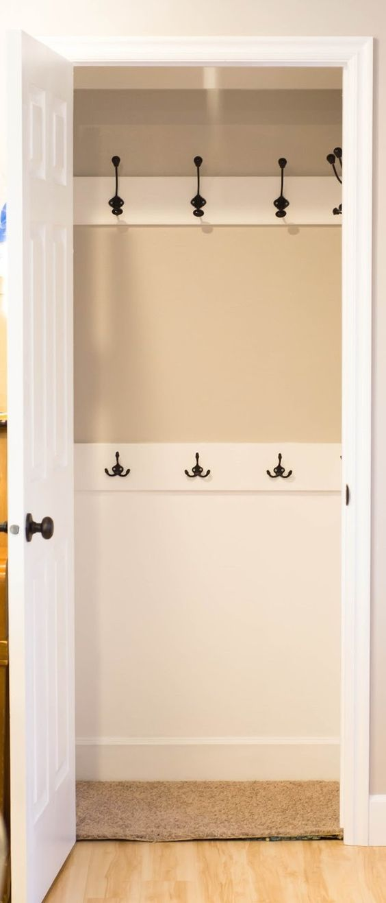 Replace closet rods with hooks - Make Your Home Look Like A Million Bucks