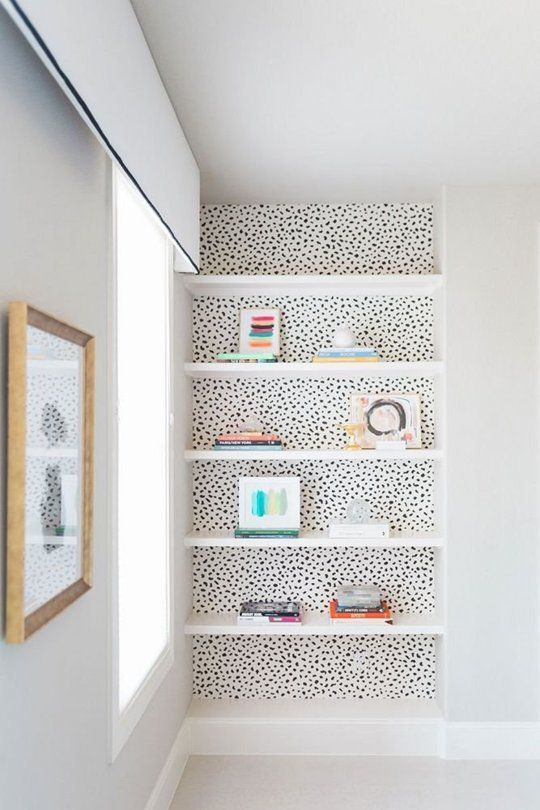 Wallpaper Behind Shelves - Low-budget Ways To Make Your Home Look Like A Million Bucks