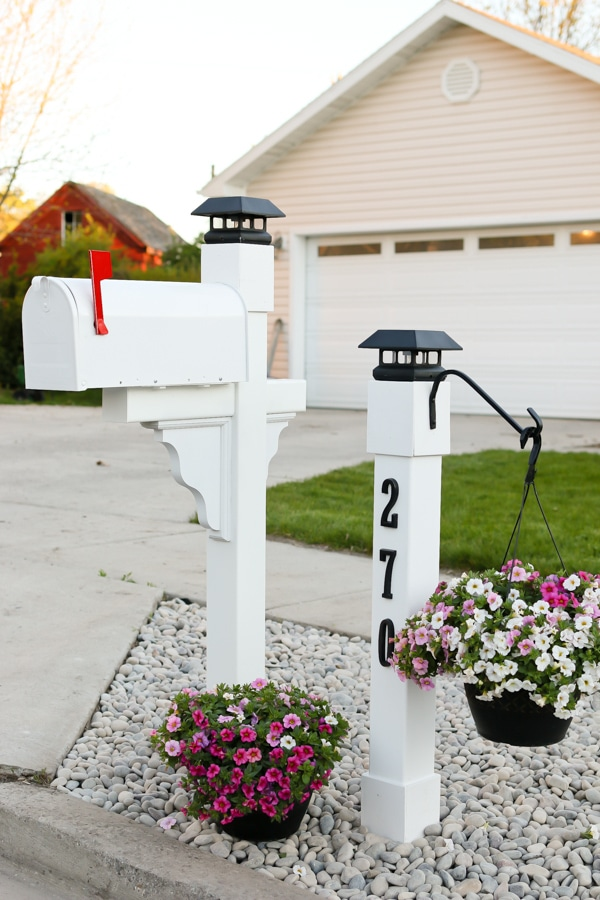 After Mailbox Makeover - Make Your Home Look Like A Million Bucks