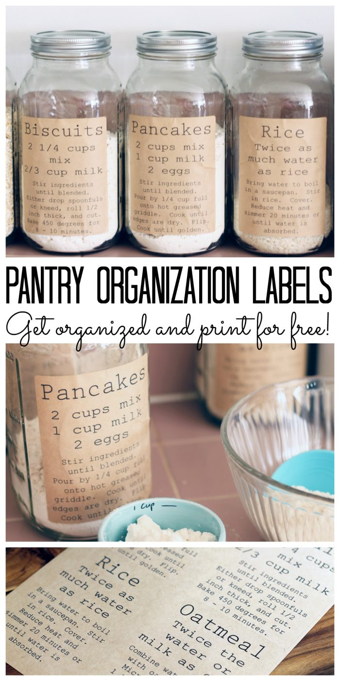 Pantry Organization - Label Jars With Recipes