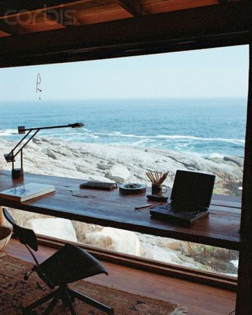 Dreamy Work Space - Desk At The Ocean