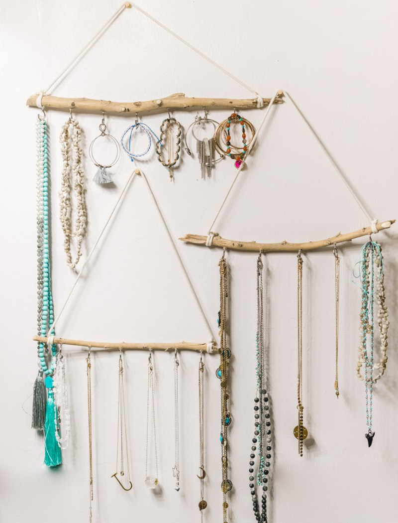DIY jewelry holder (made out of sticks)