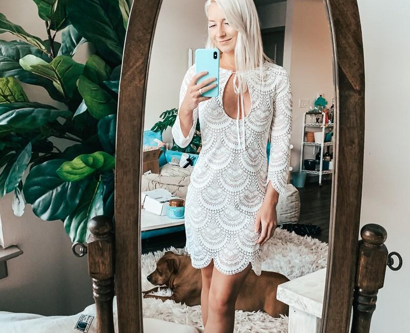 Jenny Bess wearing For Love & Lemons - Short White Dresses
