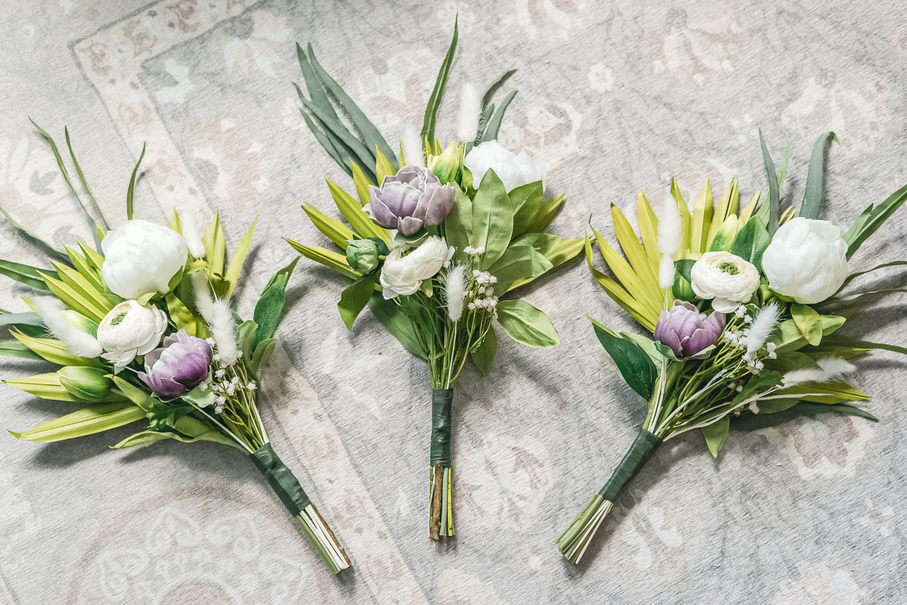 Bridesmaid Bouquets Made From Fake Flowers