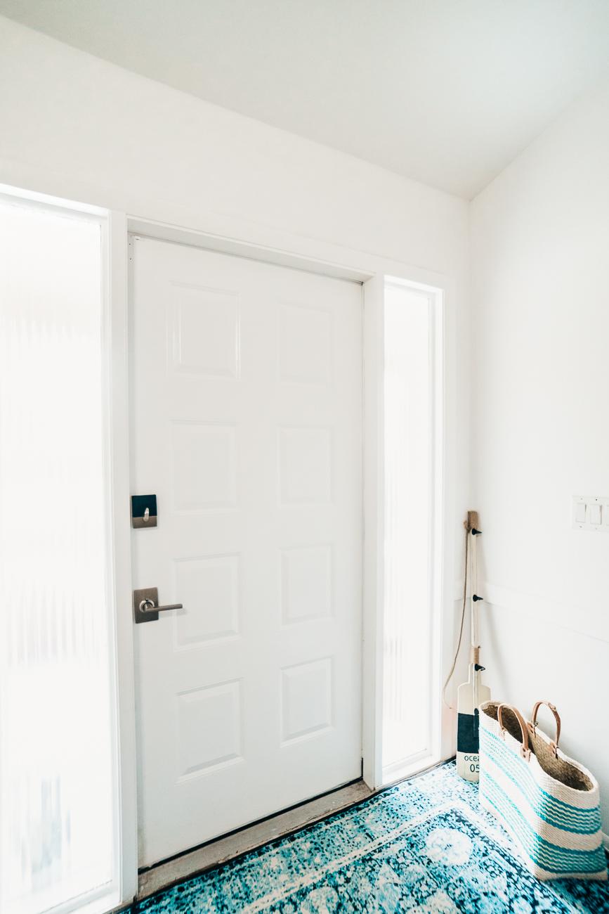 White paint on a metal door