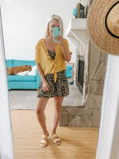 Kohl's Back To School Outfit Ideas - Romper With Yellow Button-down