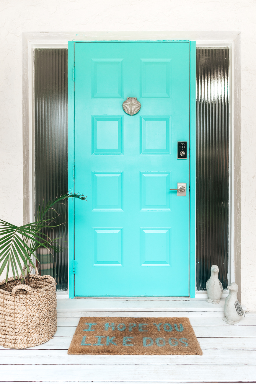 Retro chic by Valspar turquoise metal door paint